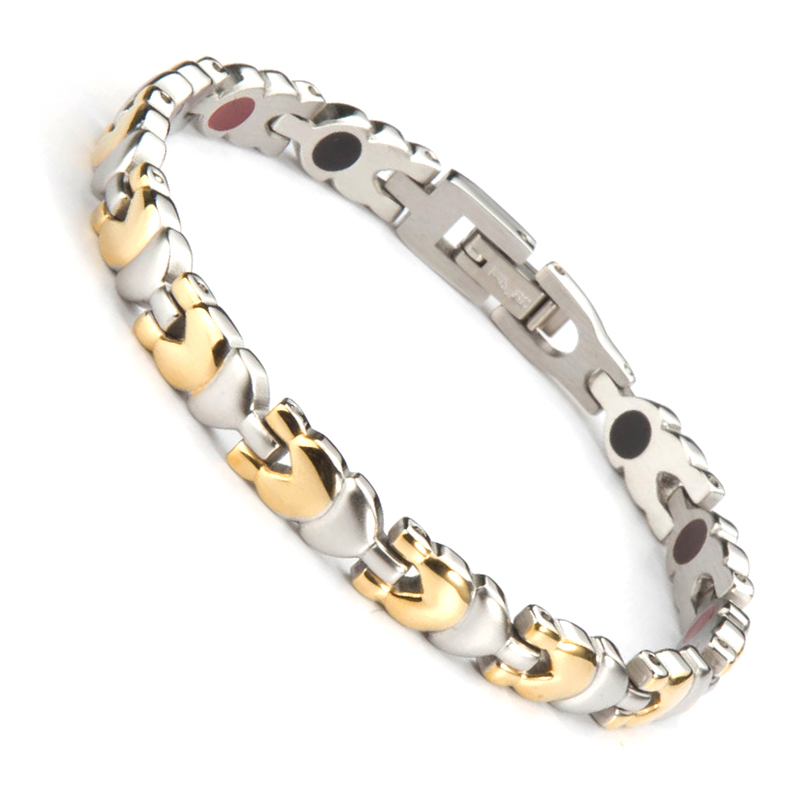 38 New Fashion Bio Health Care Magnetic Therapy Bracelet Stainless Steel Magnetic Bracelet Germanium FIR Anion Women Bangle 38 new fashion bio health care magnetic therapy bracelet stainless steel magnetic bracelet germanium fir anion women bangle