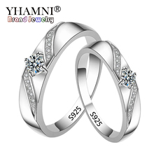 Big 95% OFF! YHAMNI Original Pure 925 Silver Rings for Women and Men CZ Zircon Jewelry Engagem...