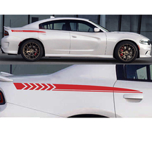 YongXun, 2PCS Side Sticker Decal stripes for Dodge Charger 2012 2013 2014 2015 6.2L Vent TURBO