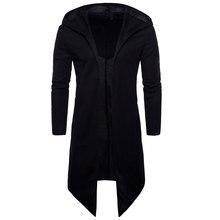 Мужской плащ, весенний модный длинный плащ, Мужское пальто