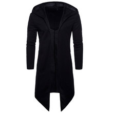 Men Trench Coat Spring Fashion Long Fit Trench Coat Overcoat