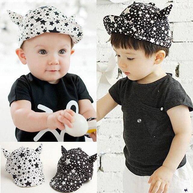 Baby Hat Sun Baseball Cap Ox Horn Stars Style for Boys Girls Children Kids  Spring Polo 86b78fde62f