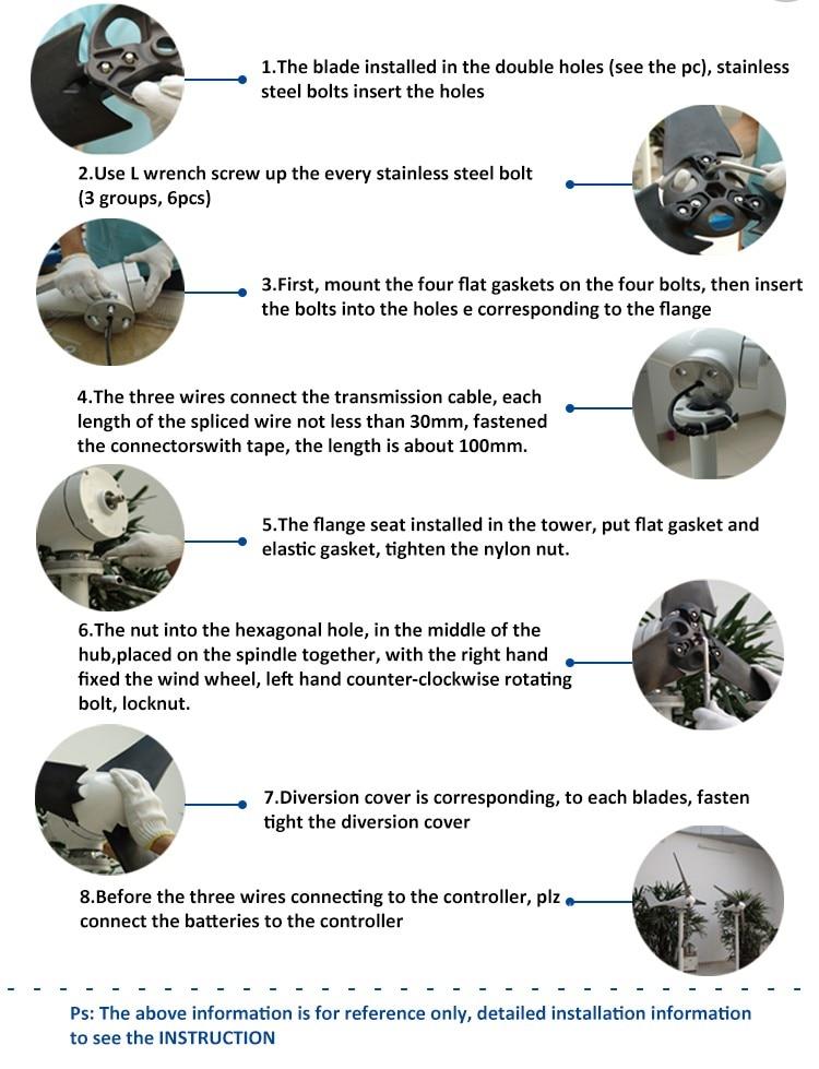 installation guide of wind turbine