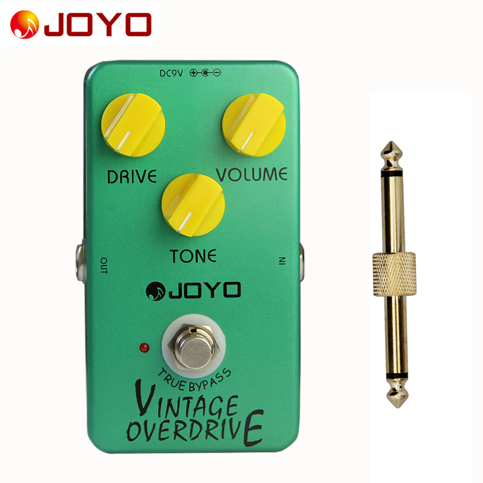 цена на JOYO JF-01 Electric Bass Guitar Effect Pedal Vintage Overdrive DC 9V True Bypass Dynamic Compression+1 pc pedal connector