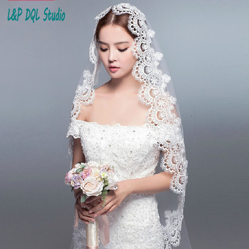 Wedding Veils Styles: Gorgeous Wedding Veils High Quality Tulle With Applique