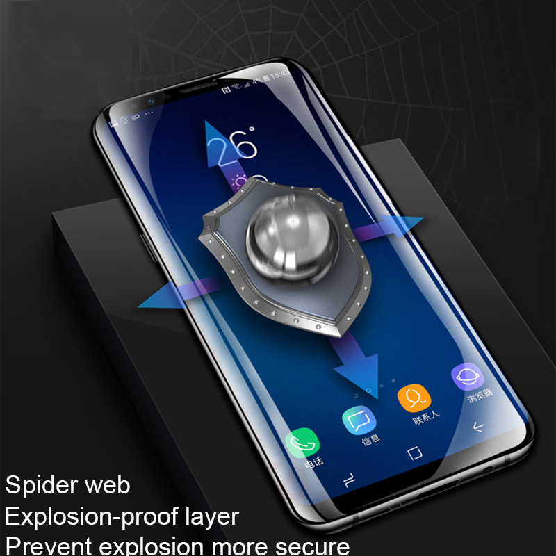 Full Hydrogel Film For Samsung Galaxy S10 S9 S8 A8 Plus Lite S7 Edge Soft 3D Screen Protector Film For Samsung Note 9 8 S10 Plus in Phone Screen Protectors from Cellphones Telecommunications