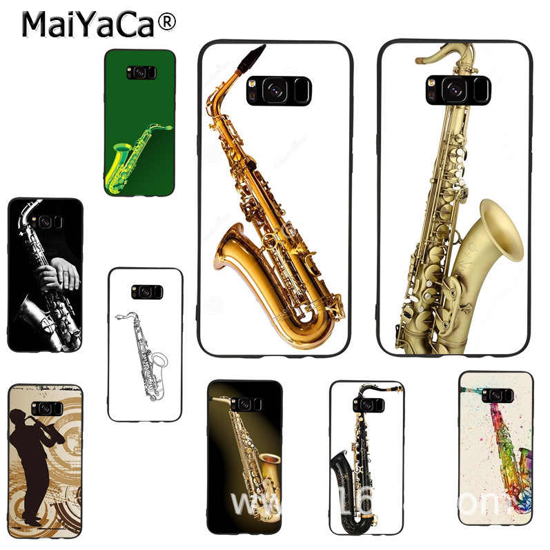 MaiYaCa Musical instruments Saxophone phone Cover Case for samsung galaxy note 8 4 5 s7edge s6 s8 s9 plus case coque