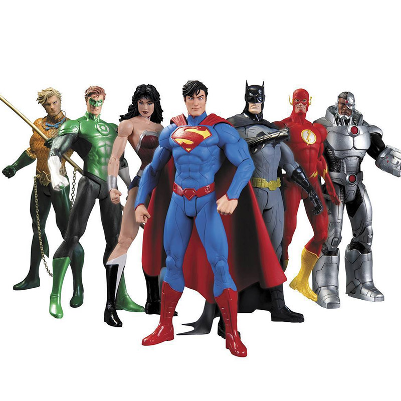 Christmas Toys Children Gifts 7pcs/set Action Toys Superman Doll Wonder Woman Batman Figure Justice League ...