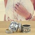 2015 Новый Vintage Кольца 4 шт. Установить Чешские Серебряные Обручальные Кольца Для Женщин Aneis Bijoux Je. welry R2052