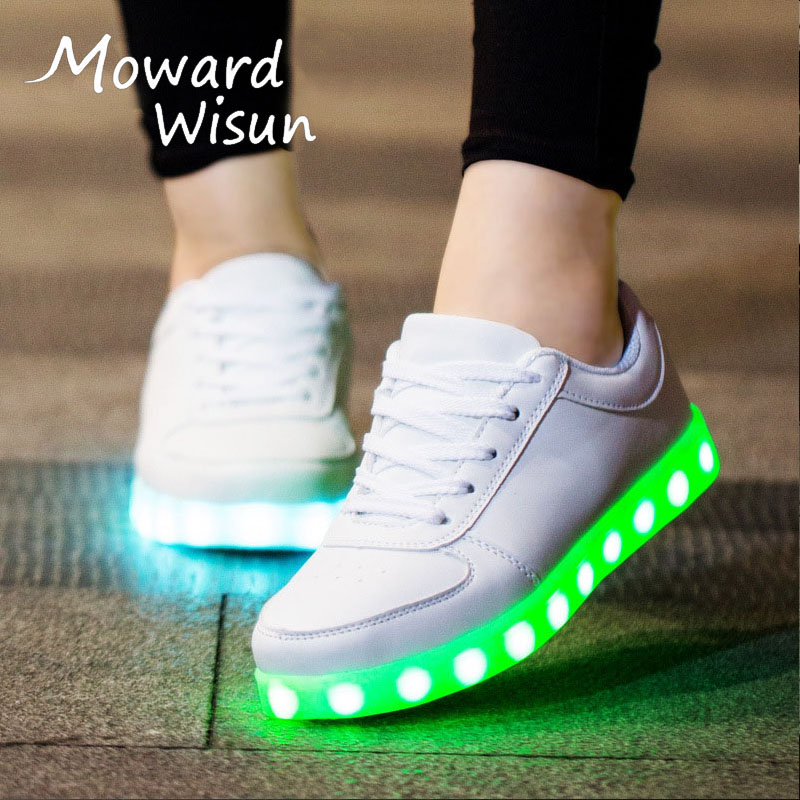 Good USB Charging Luminous Sneakers with Light Up Sole Child Glowing Shoes Tenis Led Feminino BasketTrainers Kids Boy Girls 90