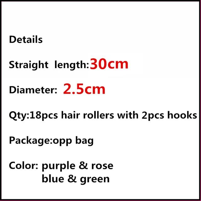 18pcs 30cm Magic hair curler magic hair roller set as you seen on TV