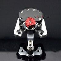 Для Ducati Monster 1100 EVO 2011 2012 2013 Черный мотоцикл Регулируемая рулевая демпфер стабилизатор с кронштейн