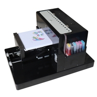 DIY tshirt Printer A3 Flatbed inkjet Printer Multicolor A3 dtg color Printing Machine For T shirt clothes With Textile Ink