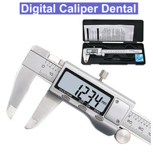 Stainless Steel 0-150mm Dental Electronic Digital Caliper High Precision Vernier Caliper Gauge Micrometer Measuring Tool