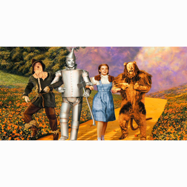 Bamboo Fiber Bath Towels For S 140x70cm Drying Washcloth The Wizard Of Oz Print Beach