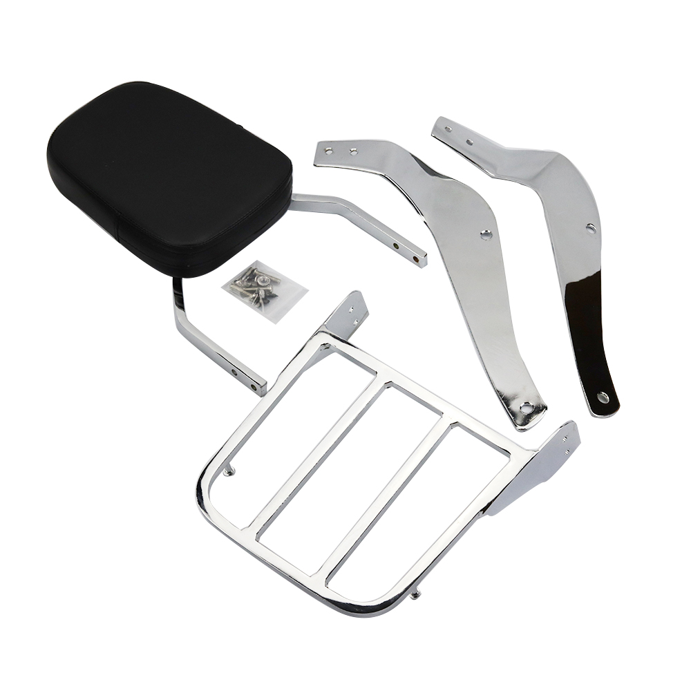 For Suzuki Boulevard C50 2005-2011 k5 k6 k7 k8 k9 2005 2006 2007 2008 2009 2010 2011 Motorcycle Backrest Sissy Bar Luggage Rack aftermarket free shipping motorcycle parts eliminator tidy tail for 2006 2007 2008 fz6 fazer 2007 2008b lack