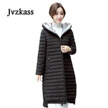 Jvzkass 2019 new Plus size winter long-sleeved cotton padded female 2018 new wild Korean Slim was thin down jacket coat padded jacket Z82 цены онлайн