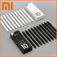 Оригинальный Xiaomi знак ручки 0,5 мм писать шариковой ручкой прочный гелевая ручка 10 шт./компл. Японии черные чернила пополнения школьные канцелярские шариковая ручка