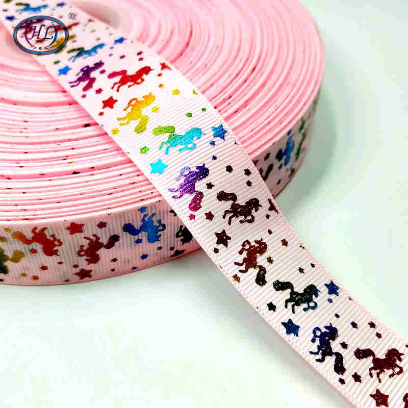 Рождественская лента Hl 5 ярдов 25 мм горячее тиснение корсажные ленты Свадебные украшения Швейное Ремесло «сделай сам» для изготовления бантов для волос - Color: pink