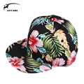 2015 Adult Baseball Cap Female Flowers Smooth Flat Hip-hop Fashion Leaves Snapback Hats For Women