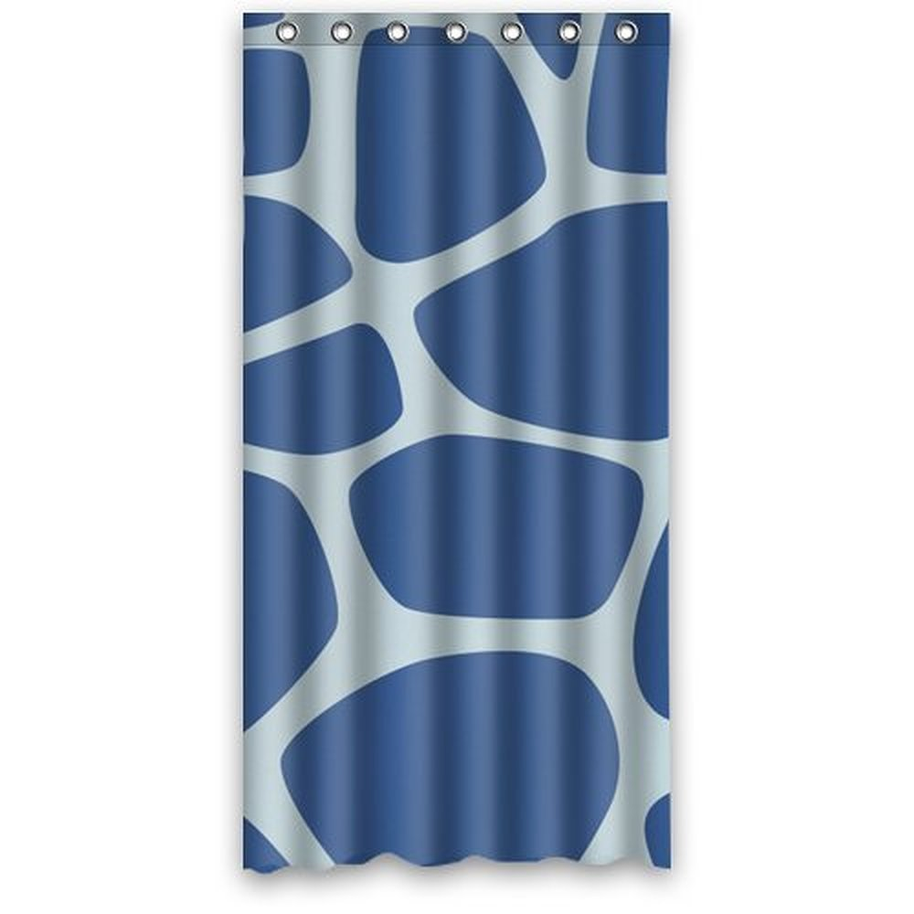 Dark knight shower curtain - Dark Blue Giraffe Pattern Animal Art Shower Curtain Waterproof Bath Curtain Hook Attached 36w 72h