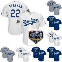 17c75eacc Los hombres de Los Ángeles Jersey  22 Clayton Kershaw 10 Justin Turner 35  Cody Bellinger