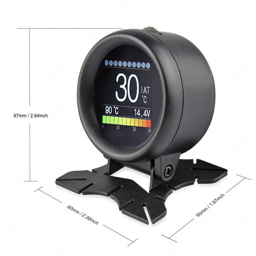 A205 OBD2 skaner na komputer pokładowy cyfrowy HUD paliwa licznik zużycia temperatura wody alarm przekroczenia prędkości OBD monitor do komputera