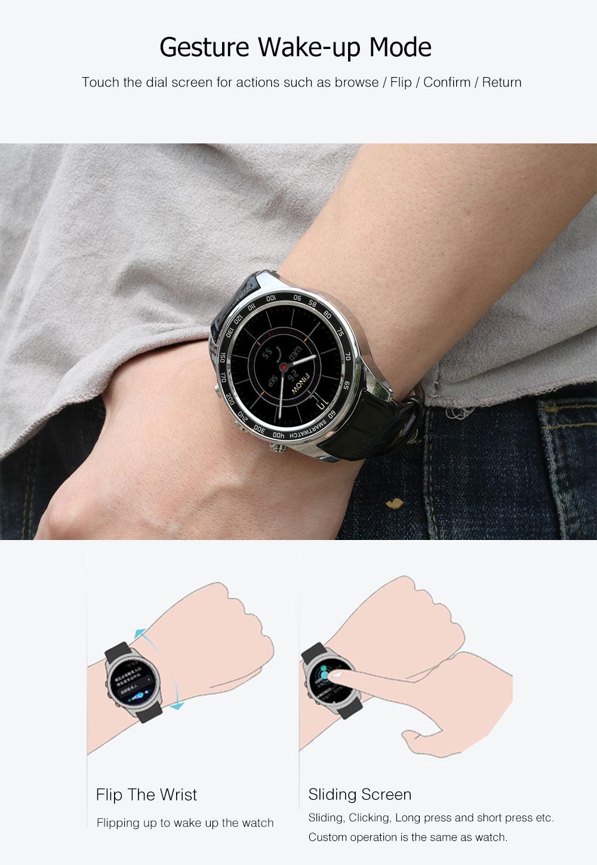 Smart Watch Pour Hommes Femmes Avec Android 5.1 Avec 0.3MP Caméra Électronique 3G Wifi BT 4.0