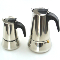 Top Quality Hot Sale 2 4 6 Cup Stainless Steel Moka Espre Sso Latte Percolator