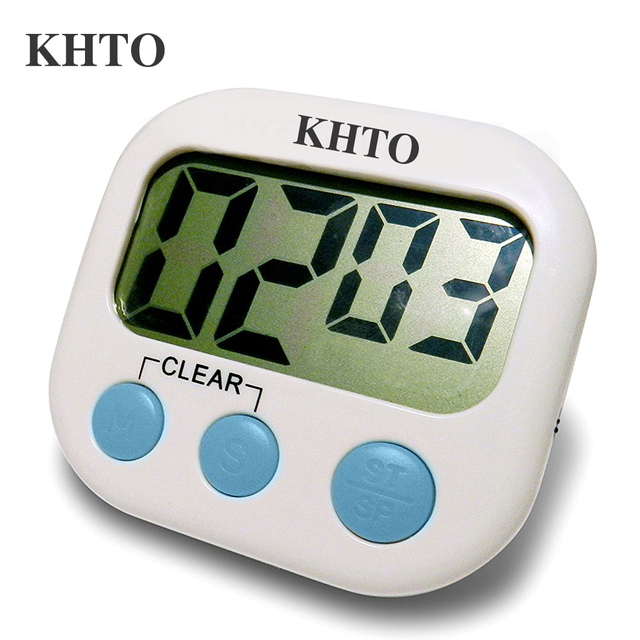 KHTO Magnetic LCD Digital Kitchen Countdown Timer Alarm with Stand ...