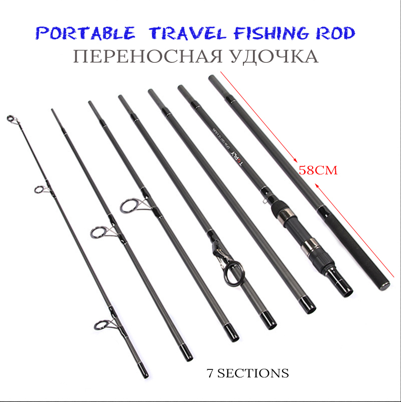 3.6m Carbon Fiber Rod Spinning Carp Fishing Rods Casting Travel Rod 7Section Fast Action Fishing tsurinoya 1 89m ul 100% carbon fiber rod spinning fishing rods casting travel rod 4 sections fast action fishing lure rod