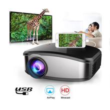Mini Projector Portable Mini LED Movie Video Projector Support 1080P with HDMI USB VGA AV interface Home theater 5.1 for Laptop
