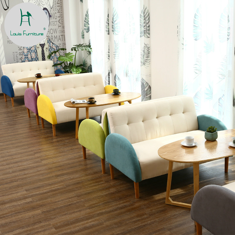 Shop For Living Room Furniture: Louis Fashion Living Room Sofas Coffee Shop Dessert Milk
