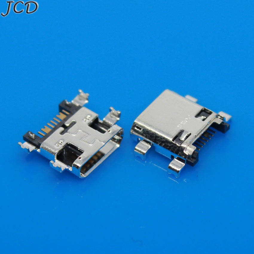 JCD 10pcs Micro USB 5Pin Jack Connector Socket Data Charging Port Tail Plug For Samsung I8262 J5 J7 J5008 Mobile Phone Mini USB