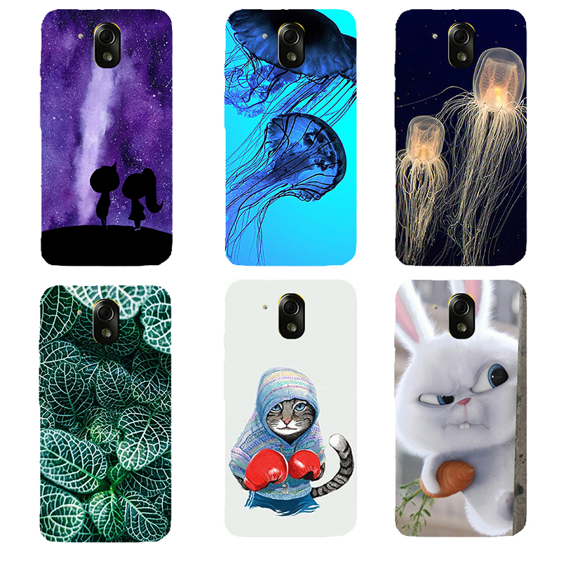FOR HTC Desire 526 Case hard PC Back Cover FOR HTC 526 526G 526G 326 326G Funda Capa Leaves cat Phone Cases FOR HTC 526 4.7""