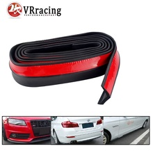 VR RACING-2.5M/ROLL 62MM WIDTH Car Front Bumper Lip Splitter Protector Body Spoiler Valance Chin Rubber Black VR-FBL11