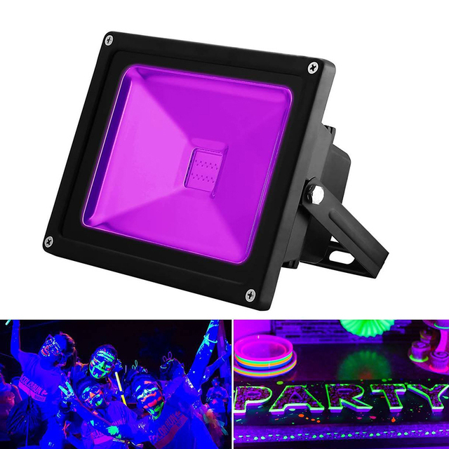 10W 20W 30W 50W Outdoor UV Black Light AC85-265V IP65 Waterproof Ultra Violet LED Flood Light Stage Light for DJ Disco Party Bar