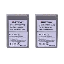 2 Pc 2000 mAh PS-BLS5 BLS-5 BLS5 BLS-50 BLS50 bateria do Olympus PEN E-PL2 E-PL5 E-PL6 e-PL7 E-PM2 OM-D E-M10 E-M10 II Stylus1 cheap Batmax Kamera Standardowa bateria Rechargeable Li-ion battery 2000mAh 7 4V