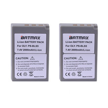 2Pc 2000mAh PS-BLS5 BLS-5 BLS5 BLS-50 BLS50 Battery for Olympus PEN E-PL2,E-PL5,E-PL6,E-PL7,E-PM2, OM-D E-M10, E-M10 II, Stylus1(China)