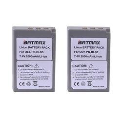 2Pc 2000mAh PS-BLS5 BLS-5 BLS5 BLS-50 BLS50 Battery for Olympus PEN E-PL2,E-PL5,E-PL6,E-PL7,E-PM2, OM-D E-M10, E-M10 II, Stylus1