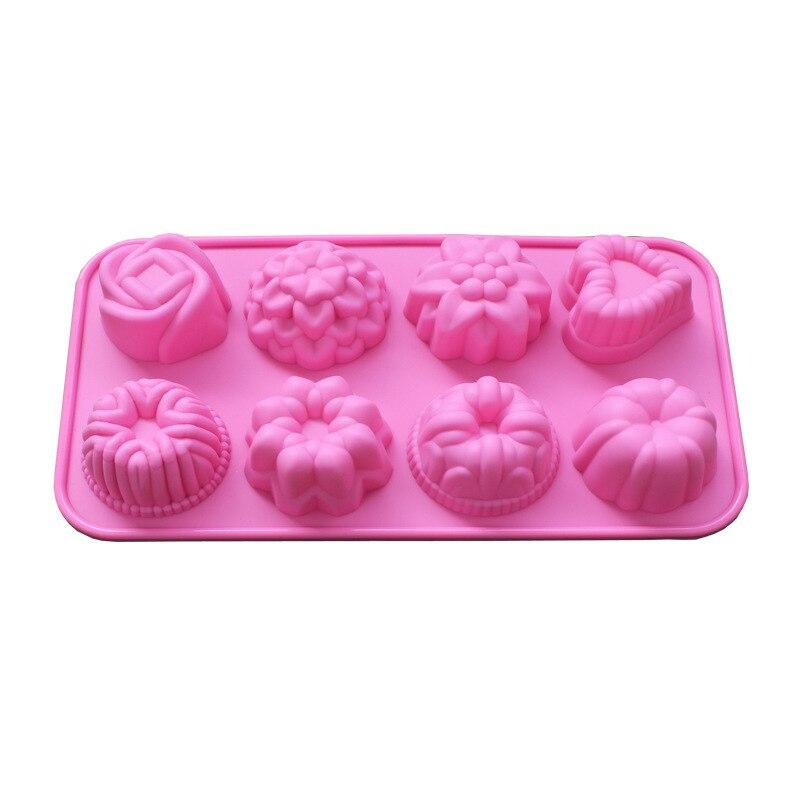 Flor Torta Del Silicón Molde Muffin Cupcake Forma Platos Para Hornear Pan para H