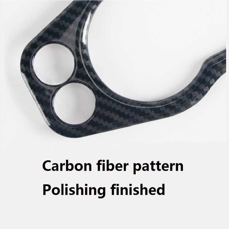 Décoration de boîtier de revêtement d'habillage d'autocollant de panneau de commutateur de phare de voiture d'abs pour Mini Cooper F55 F56 accessoires de style d'intérieur