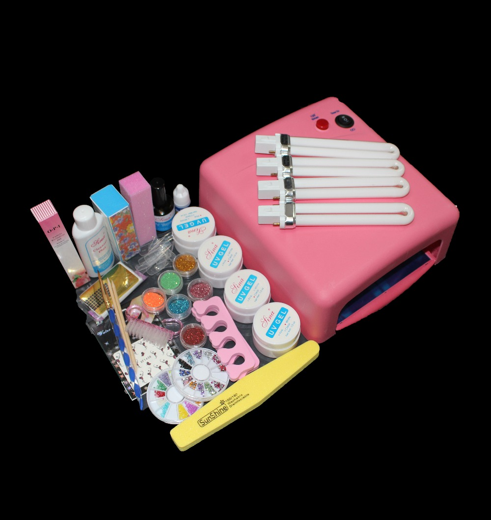 High quality Pro 36W UV Dryer Lamp Curing Files Sanding False Nail Art Tips Gel Tools DIY Set BTT-115 free shipping 2017 high quality taiwan bao gong 1pk 816n pro skit high voltage insulation 1000v electrical set tool group free shipping