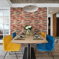 Creative Imitation Mix Colored Brick Self Adhesive Wallpaper Poster Home Bar Furniture Cabinet Decor Wall Art 17.72 x 393.7