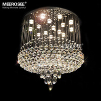 Good Quality Crystal Chandelier Luxurious Crystal Light Fixture Flush Mounted Lamp Lustre De Cristal For Staircase
