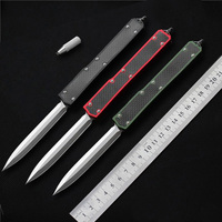 MK II out the front Knife double action Auto (4.45 Satin Plain) 106 4 Tactical knife hunting knives with retail box A07 C07