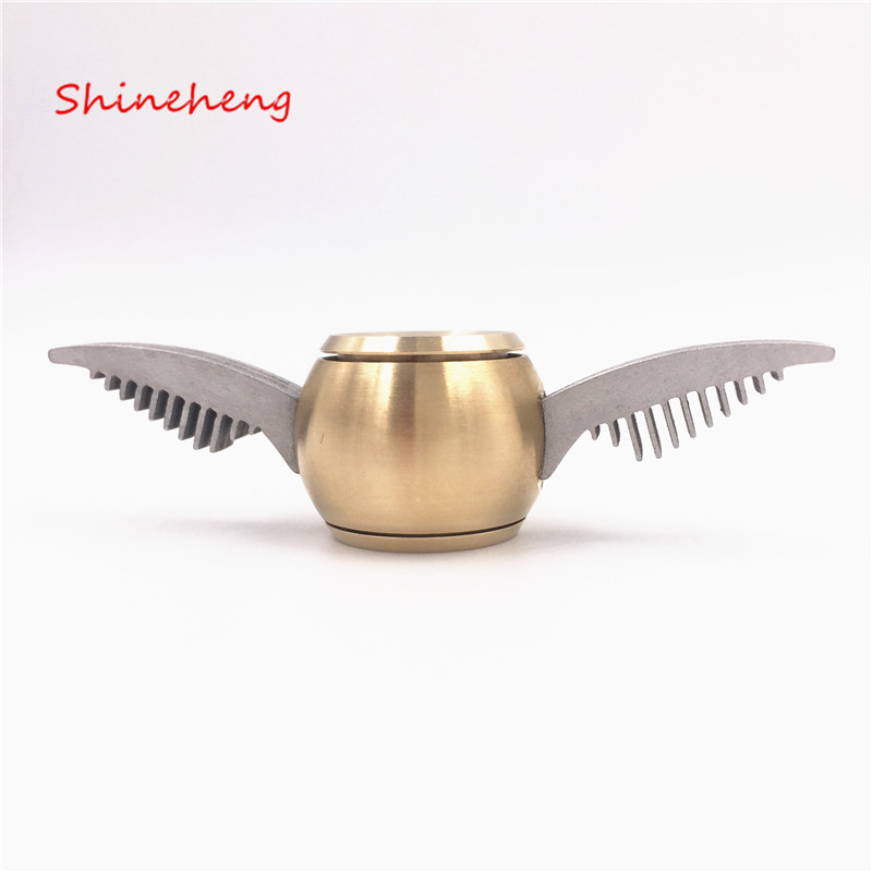 Shineheng Golden Snitch Harry Potter Fidget Spinner Hand Toy For EDC ADHD Metal Anti Stress Wheel