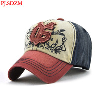 PJ.SDZM 2018 Men's New Design Baseball Caps Leisure Outdoor Sunshade Hats Pure Cotton Hat