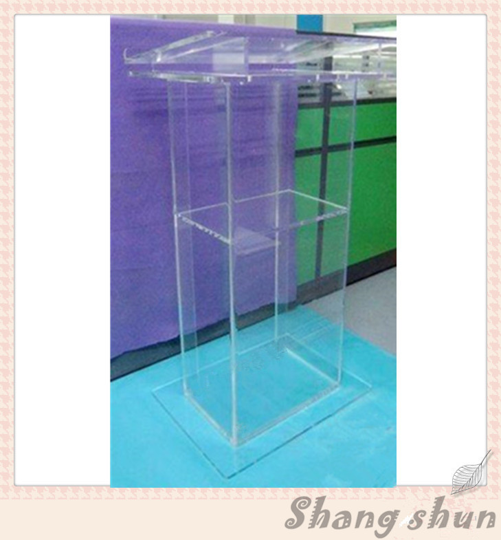 Clear acrylic lectern acrylic pulpit glass lectern for the church plastic tabletop lectern