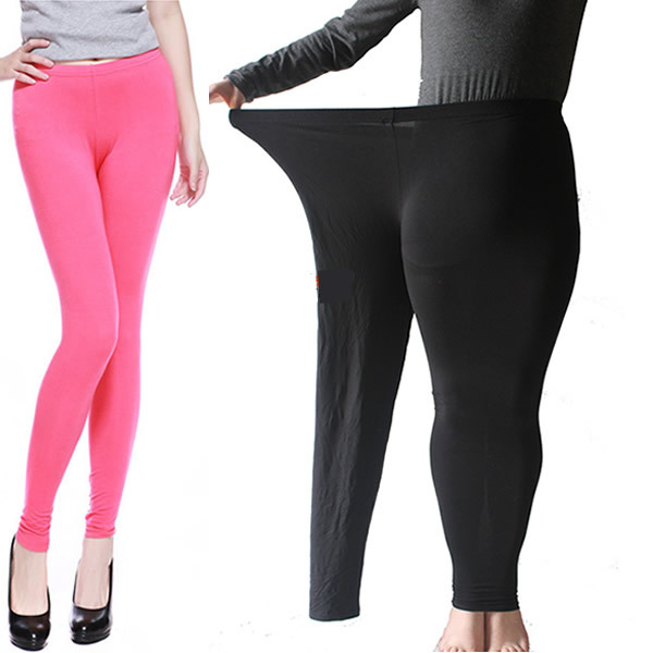 a1ed898649d Plus Large Size Summer Fat Women Black Modal Pants Leggings Tights For Women  Clothing Multi Colour High Elastic Leggings